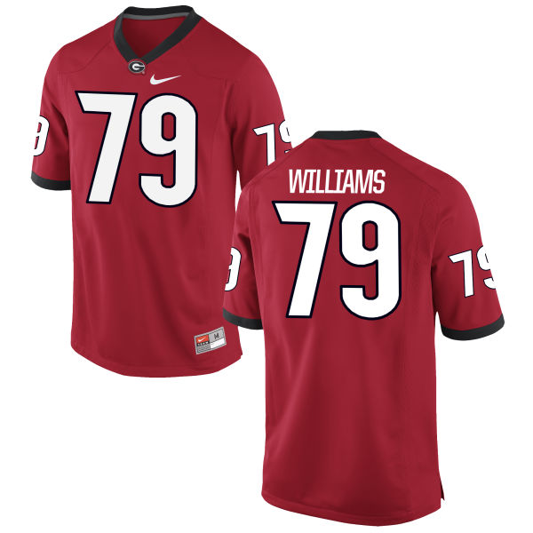 Men's Nike Allen Williams Georgia Bulldogs Authentic Red Football Jersey