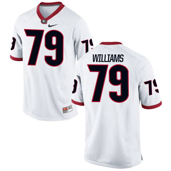 Youth Nike Allen Williams Georgia Bulldogs Authentic White Football Jersey