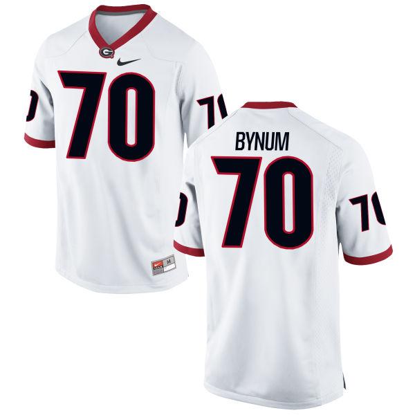 Men's Nike Aulden Bynum Georgia Bulldogs Replica White Football Jersey