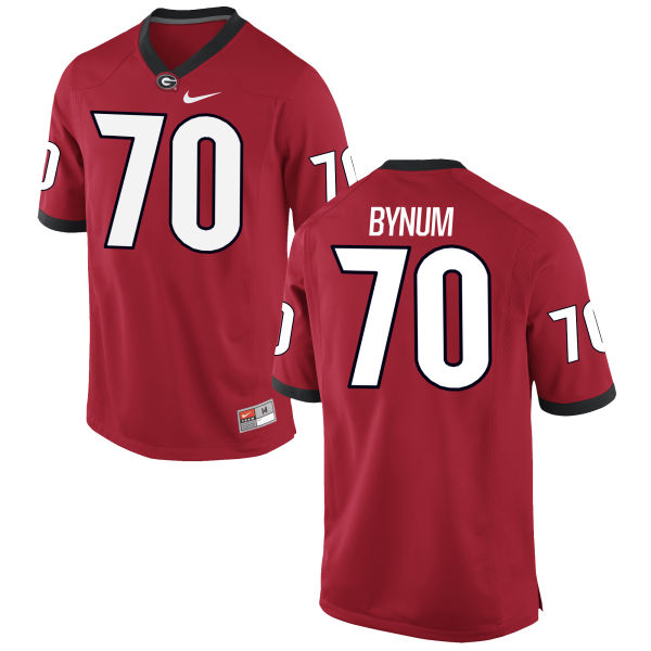 Men's Nike Aulden Bynum Georgia Bulldogs Authentic Red Football Jersey