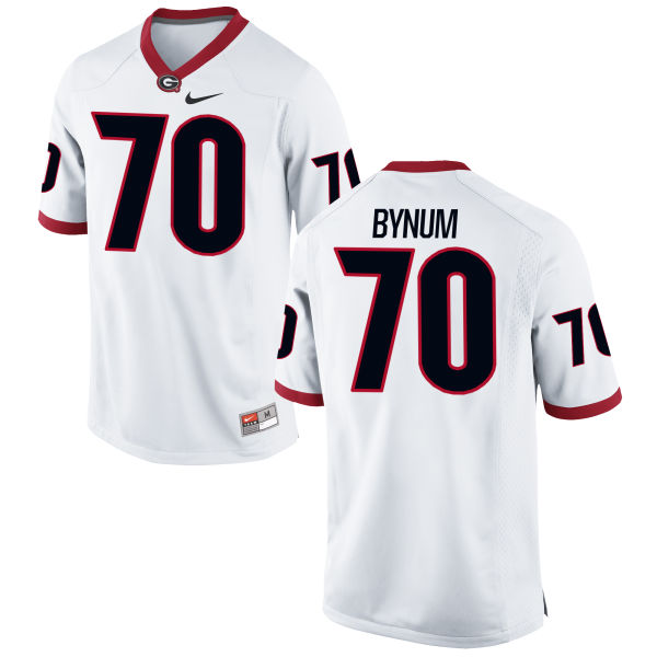 Men's Nike Aulden Bynum Georgia Bulldogs Authentic White Football Jersey