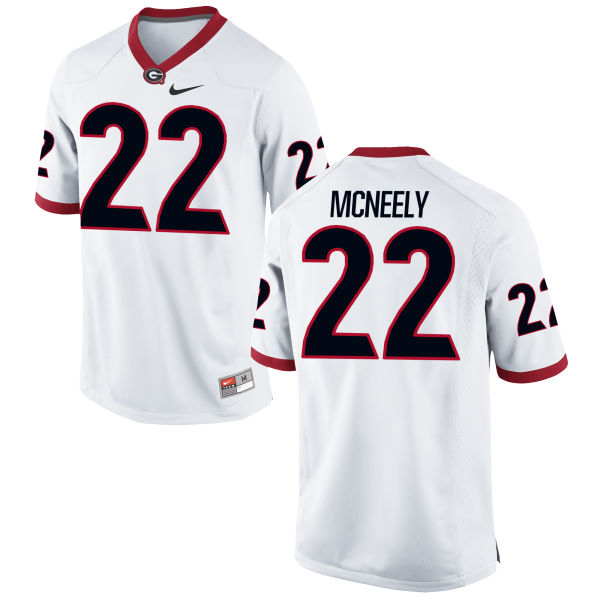 Men's Nike Avery McNeely Georgia Bulldogs Game White Football Jersey
