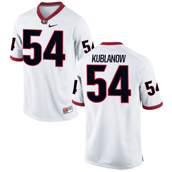 Youth Nike Brandon Kublanow Georgia Bulldogs Authentic White Football Jersey