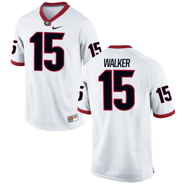 Men's Nike D'Andre Walker Georgia Bulldogs Game White Football Jersey