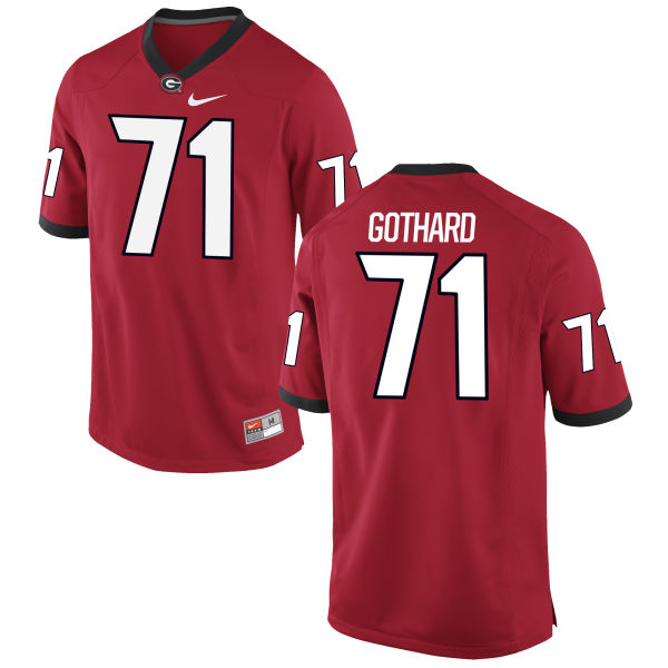 Men's Nike Daniel Gothard Georgia Bulldogs Game Red Football Jersey