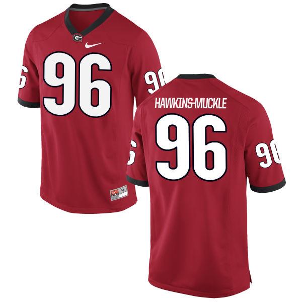 Women's Nike DaQuan Hawkins-Muckle Georgia Bulldogs Game Red Football Jersey