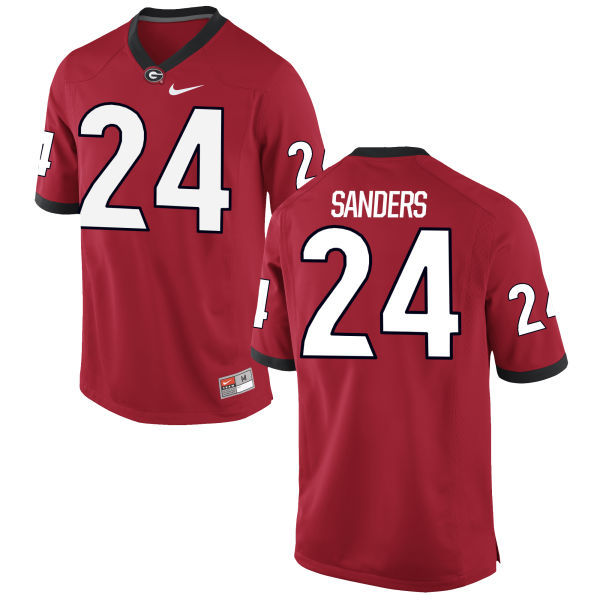 Men's Nike Dominick Sanders Georgia Bulldogs Game Red Football Jersey