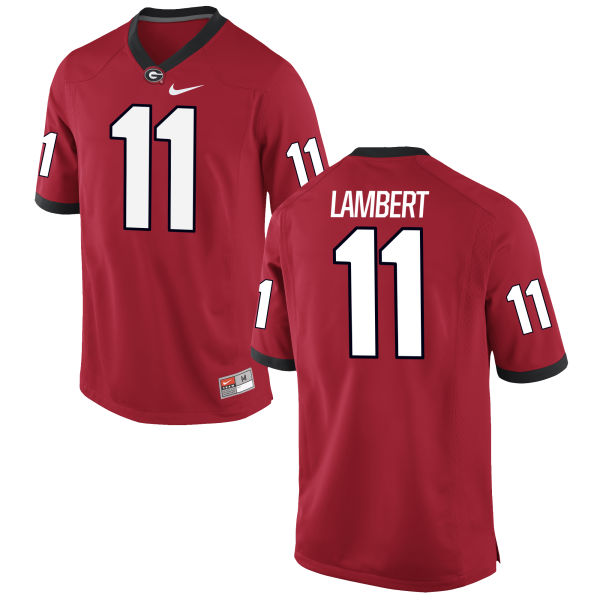 Men's Nike Greyson Lambert Georgia Bulldogs Limited Grey Football Jersey Red