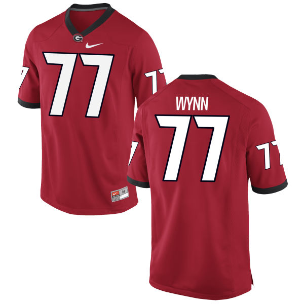 Men's Nike Isaiah Wynn Georgia Bulldogs Authentic Red Football Jersey