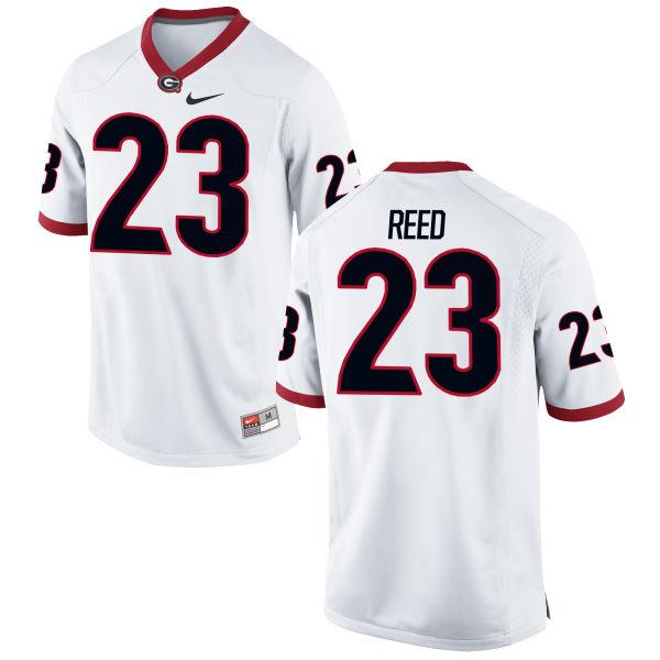 Men's Nike J.R. Reed Georgia Bulldogs Game White Football Jersey