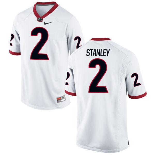 Men's Nike Jayson Stanley Georgia Bulldogs Replica White Football Jersey