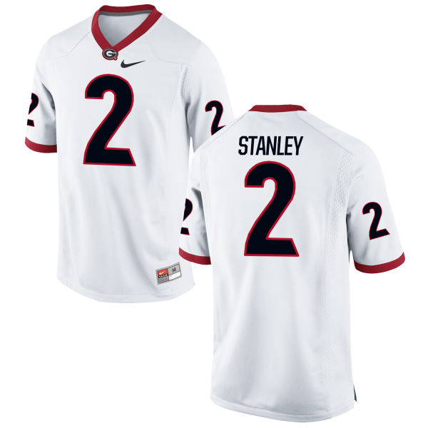 Men's Nike Jayson Stanley Georgia Bulldogs Game White Football Jersey