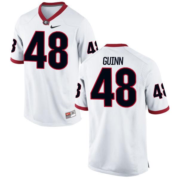 Men's Nike Jonah Guinn Georgia Bulldogs Game White Football Jersey