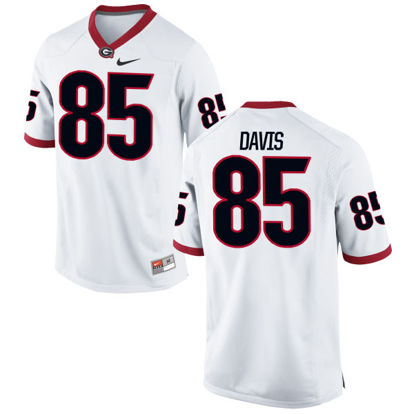 Men's Nike Jordan Davis Georgia Bulldogs Replica White Football Jersey