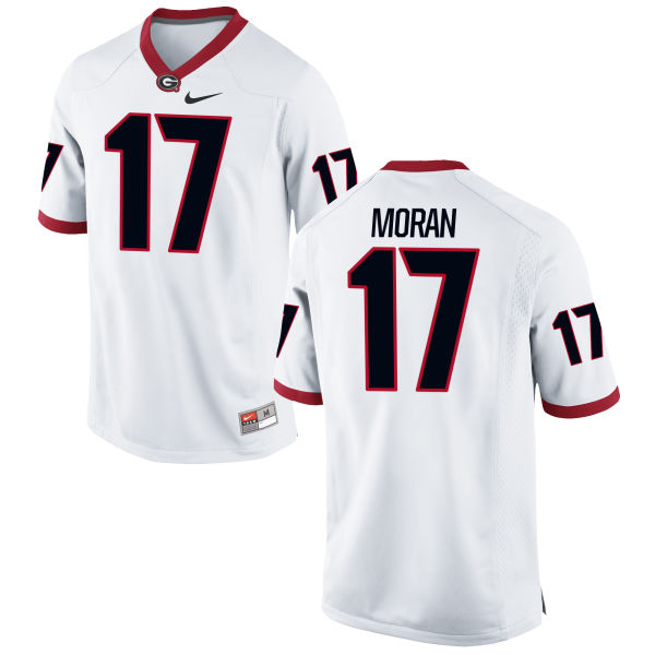 Men's Nike Josh Moran Georgia Bulldogs Game White Football Jersey
