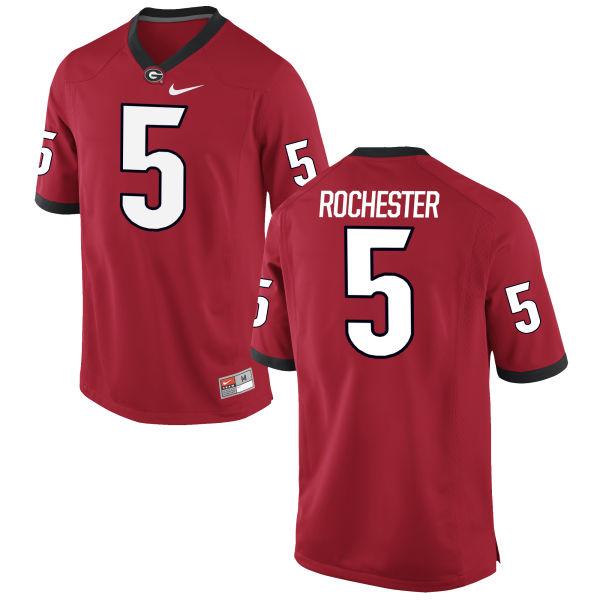 Men's Nike Julian Rochester Georgia Bulldogs Limited Red Football Jersey