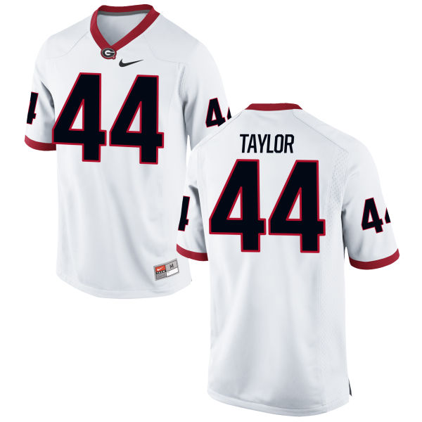 Men's Nike Juwan Taylor Georgia Bulldogs Limited White Football Jersey