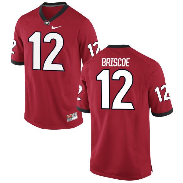 Youth Nike Juwuan Briscoe Georgia Bulldogs Authentic Red Football Jersey