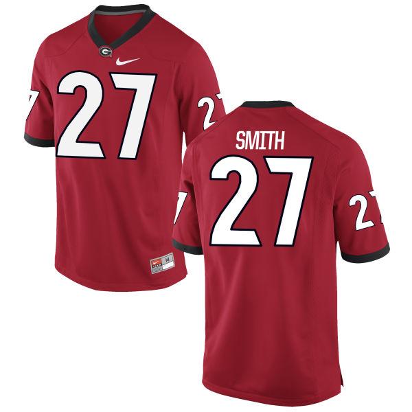 Men's Nike KJ Smith Georgia Bulldogs Game Red Football Jersey