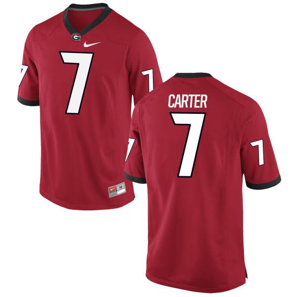 Men's Nike Lorenzo Carter Georgia Bulldogs Game Red Football Jersey