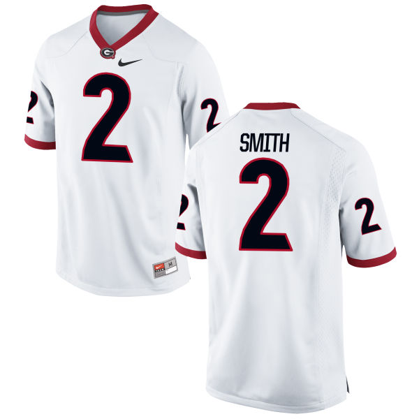 Men's Nike Maurice Smith Georgia Bulldogs Game White Football Jersey