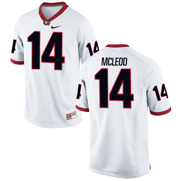 Men's Nike Parker McLeod Georgia Bulldogs Game White Football Jersey