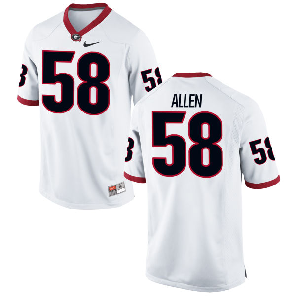 Men's Nike Pat Allen Georgia Bulldogs Authentic White Football Jersey