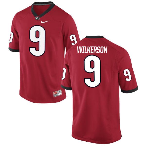 Men's Nike Reggie Wilkerson Georgia Bulldogs Limited Red Football Jersey