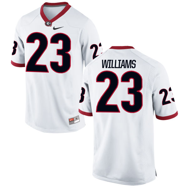 Men's Nike Shakenneth Williams Georgia Bulldogs Replica White Football Jersey