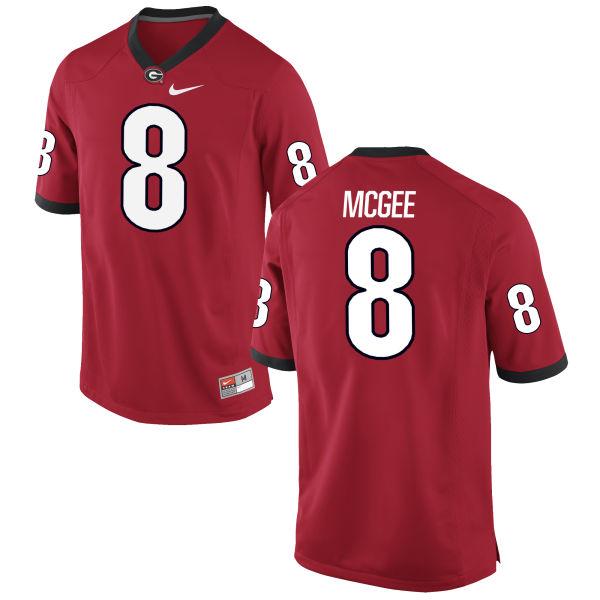 Men's Nike Shaun McGee Georgia Bulldogs Limited Red Football Jersey