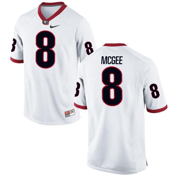 Youth Nike Shaun McGee Georgia Bulldogs Game White Football Jersey