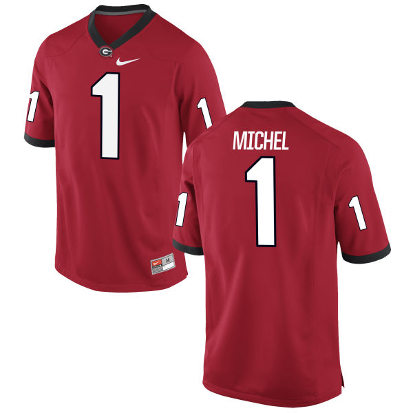 Men's Nike Sony Michel Georgia Bulldogs Authentic Red Football Jersey