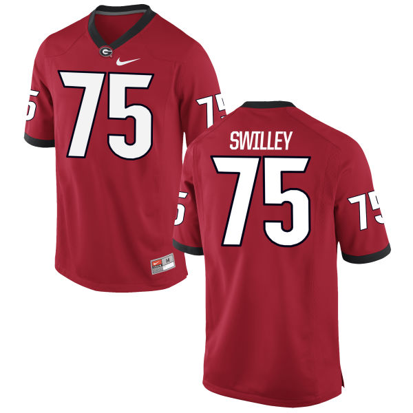 Men's Nike Thomas Swilley Georgia Bulldogs Game Red Football Jersey
