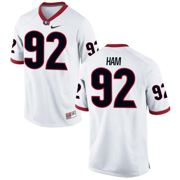 Men's Nike William Ham Georgia Bulldogs Replica White Football Jersey