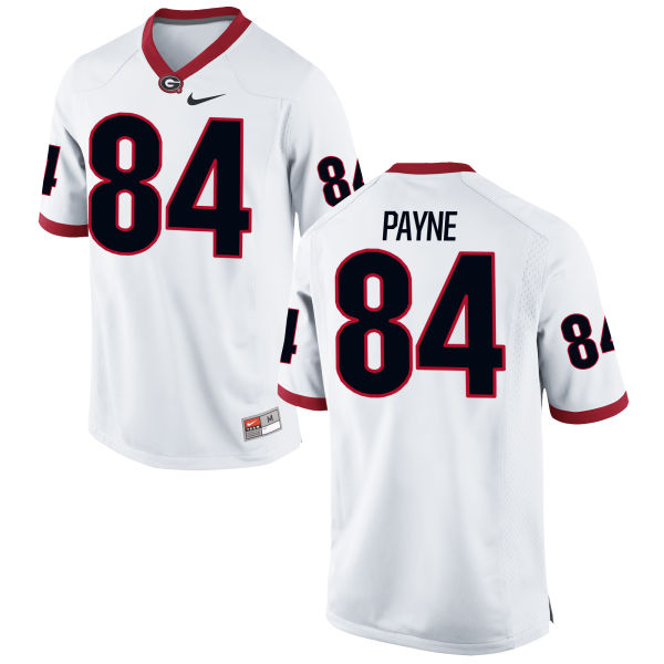 Men's Nike Wyatt Payne Georgia Bulldogs Game White Football Jersey