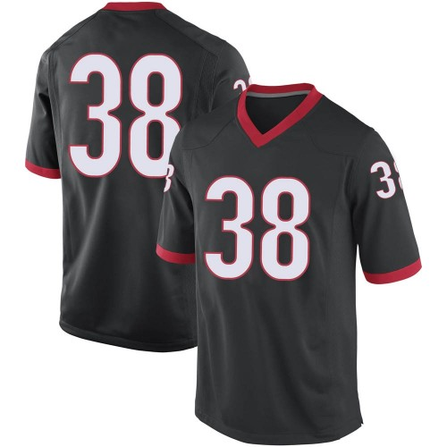 Men's Nike Aaron Olalude Georgia Bulldogs Game Black Football College Jersey