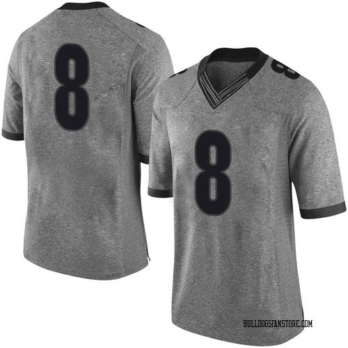 Men's Nike Adam Anderson Georgia Bulldogs Limited Gray Football College Jersey