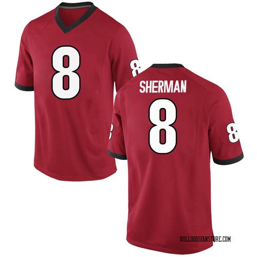 Men's Nike Adam Anderson Georgia Bulldogs Replica Red Football College Jersey