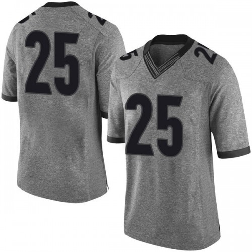 Men's Nike Ahkil Crumpton Georgia Bulldogs Limited Gray Football College Jersey