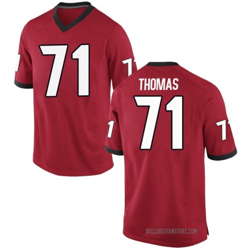 Men's Nike Andrew Thomas Georgia Bulldogs Game Red Football College Jersey