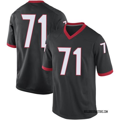 Men's Nike Andrew Thomas Georgia Bulldogs Replica Black Football College Jersey