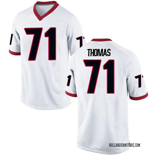 Men's Nike Andrew Thomas Georgia Bulldogs Replica White Football College Jersey