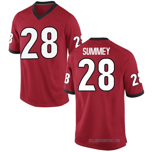 Men's Nike Anthony Summey Georgia Bulldogs Game Red Football College Jersey