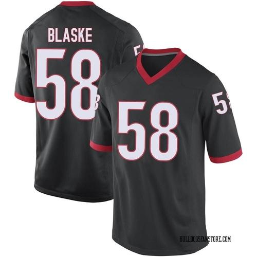 Men's Nike Austin Blaske Georgia Bulldogs Game Black Football College Jersey