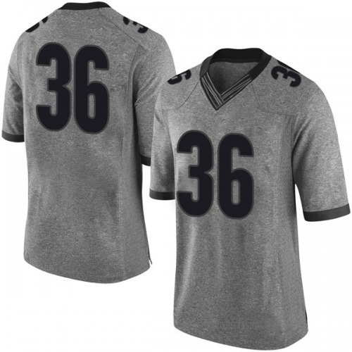 Men's Nike Bender Vaught Georgia Bulldogs Limited Gray Football College Jersey