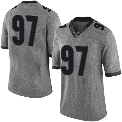 Men's Nike Brooks Buce Georgia Bulldogs Limited Gray Football College Jersey