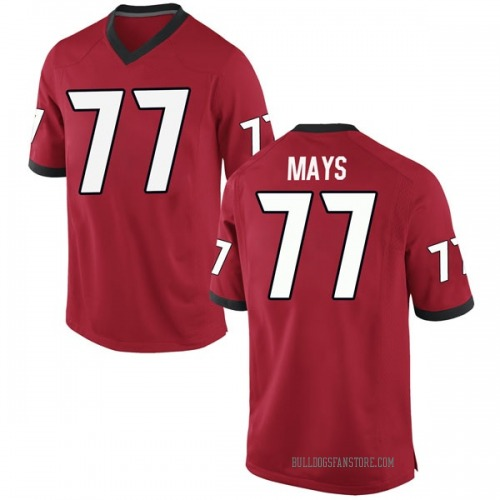 Men's Nike Cade Mays Georgia Bulldogs Game Red Football College Jersey