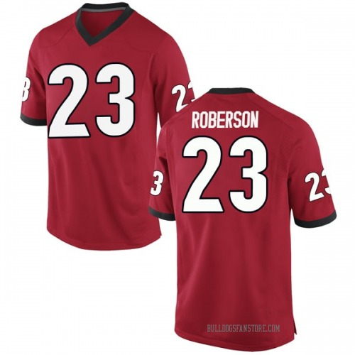 Men's Nike Caleeb Roberson Georgia Bulldogs Game Red Football College Jersey