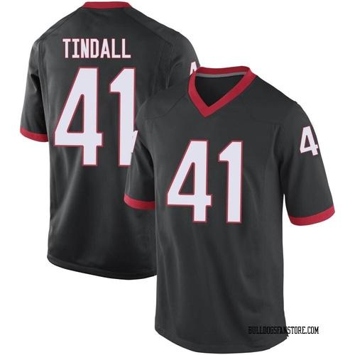Men's Nike Channing Tindall Georgia Bulldogs Game Black Football College Jersey