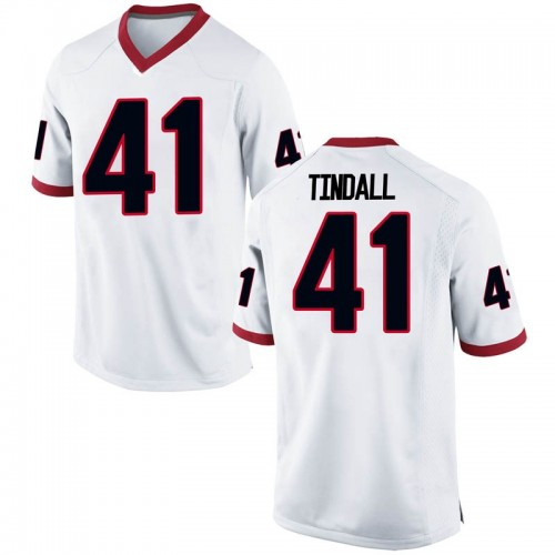 Men's Nike Channing Tindall Georgia Bulldogs Game White Football College Jersey